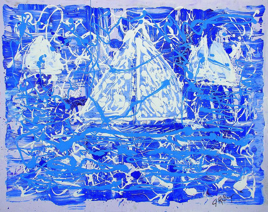 Sailing Painting - Sailing With Friends by J R Seymour