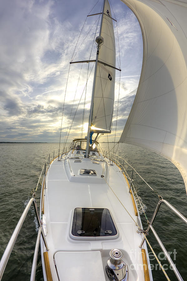 Sailing Photograph - Sailing Yacht Fate Beneteau 49 by Dustin K Ryan