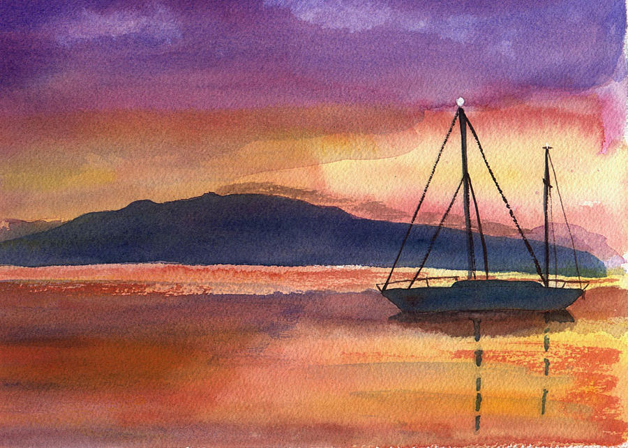 Sailboat Painting - Sailor by Jane Croteau