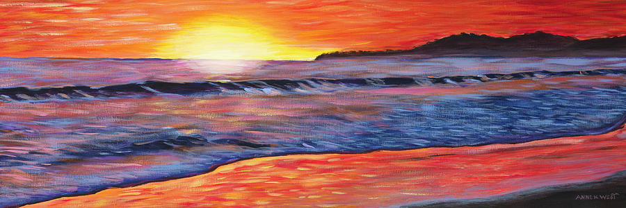 Seascape Painting - Sailors Delight by Anne West