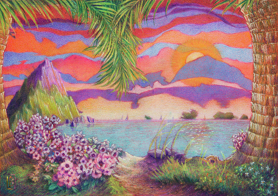Tropical Fantasy Painting - Sailors Delight by Lynn Bywaters