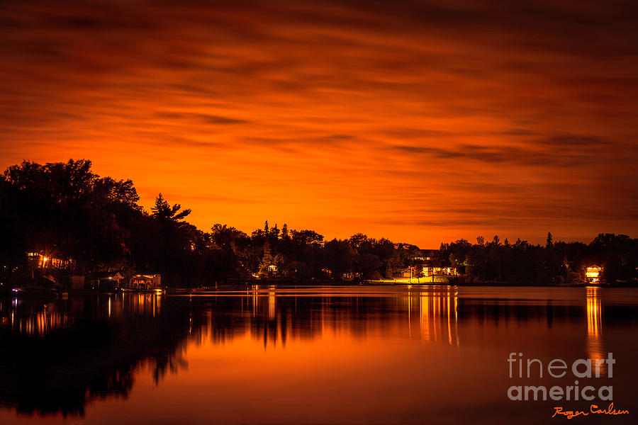 Sunset Photograph - Sailors Delight by Roger Carlsen