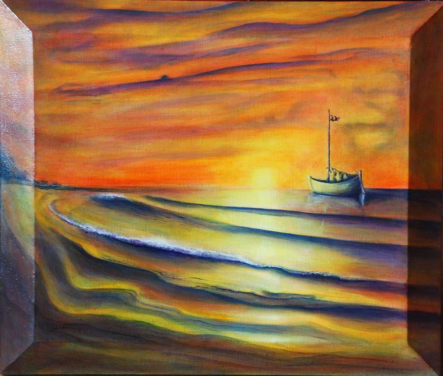 Sunrise Painting - Sailors Delight by Thomas Lupari