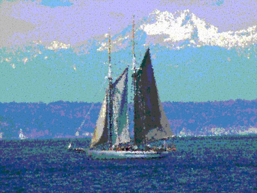 Sail Digital Art - Sailors Delight by Tim Allen