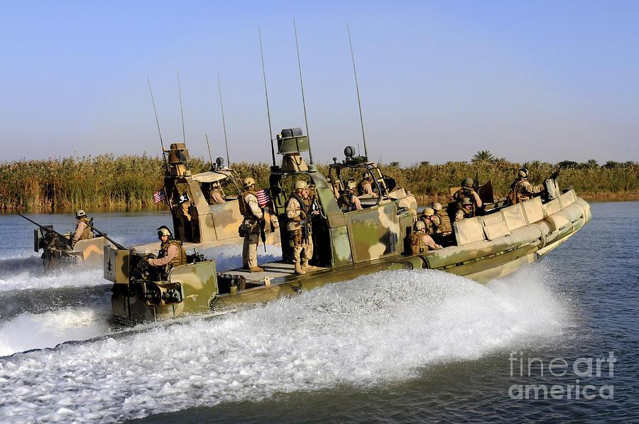 Iraq Photograph - Sailors Racing Along The Euphrates by Stocktrek Images