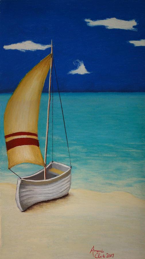 Boat Pastel - Sailors Solitude by Amanda Clark