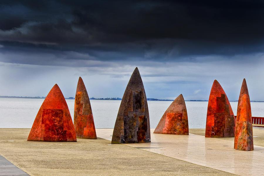 Australia Photograph - Sails And Shark Fins by Gej Jones