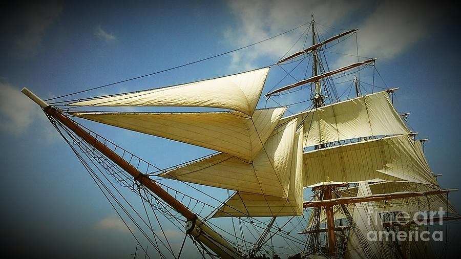 Sails Photograph - Sails Away by Travis B Johnson