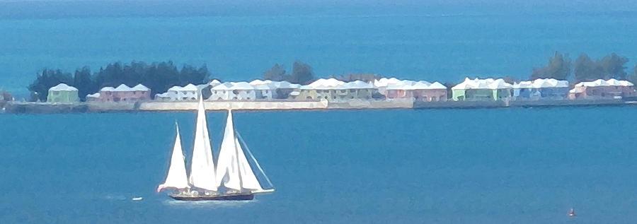 Sailboat Photograph - Sails In Bermuda by Ian  MacDonald