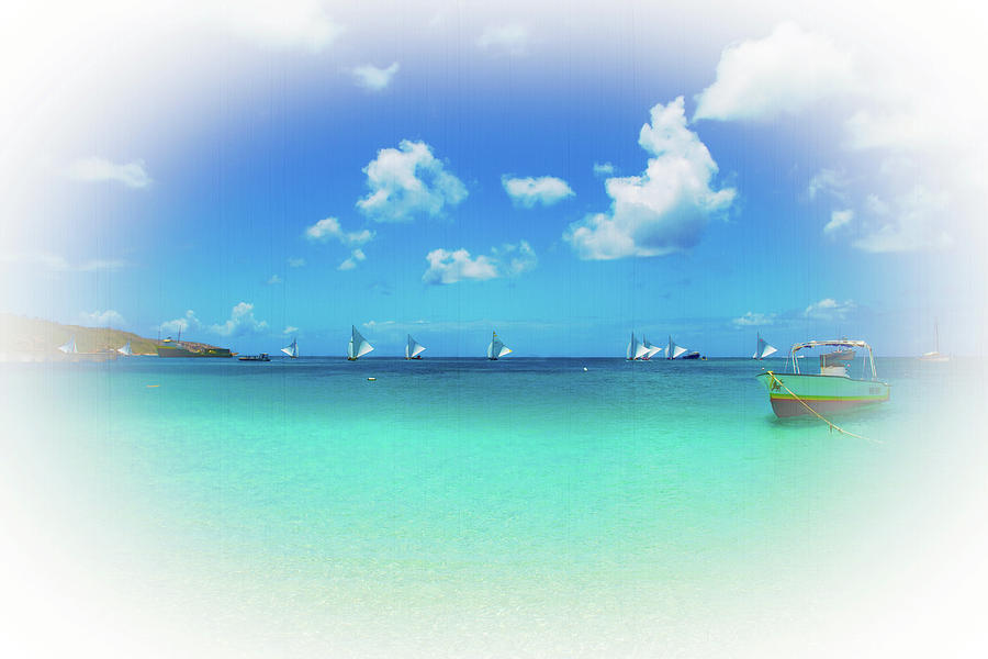Sandy Ground Photograph - Sails In The Wind Sandy Ground Anguilla by Ola Allen