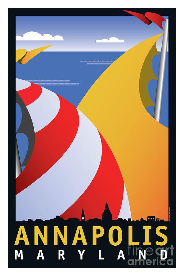 Sails Digital Art - Sails by Joe Barsin