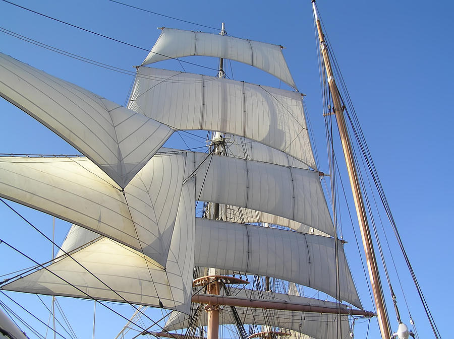 Sails Of The Star Of India II Photograph by Chuck Cannova