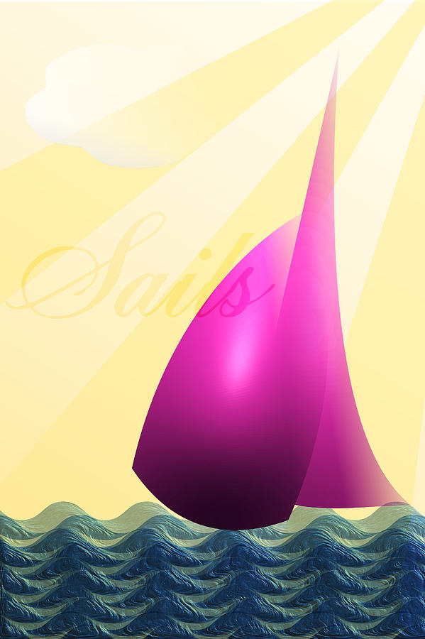 Sails Digital Art - Sails by Trevor Wintle