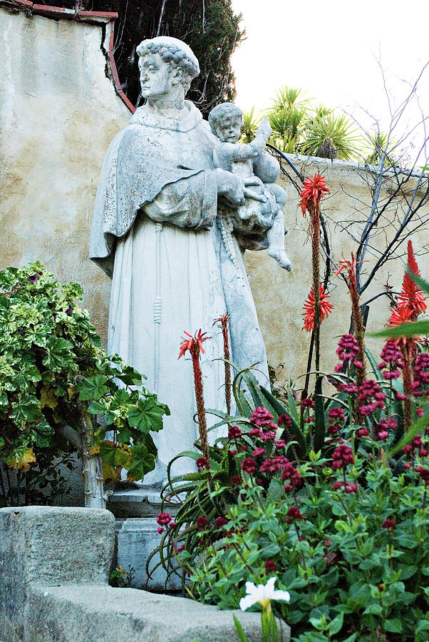 Saint Anthony Bronze Statue at Mission Carmel by Renee Hong