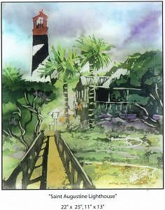 Saint Augustine Lighthouse Painting by Wendy Tatter