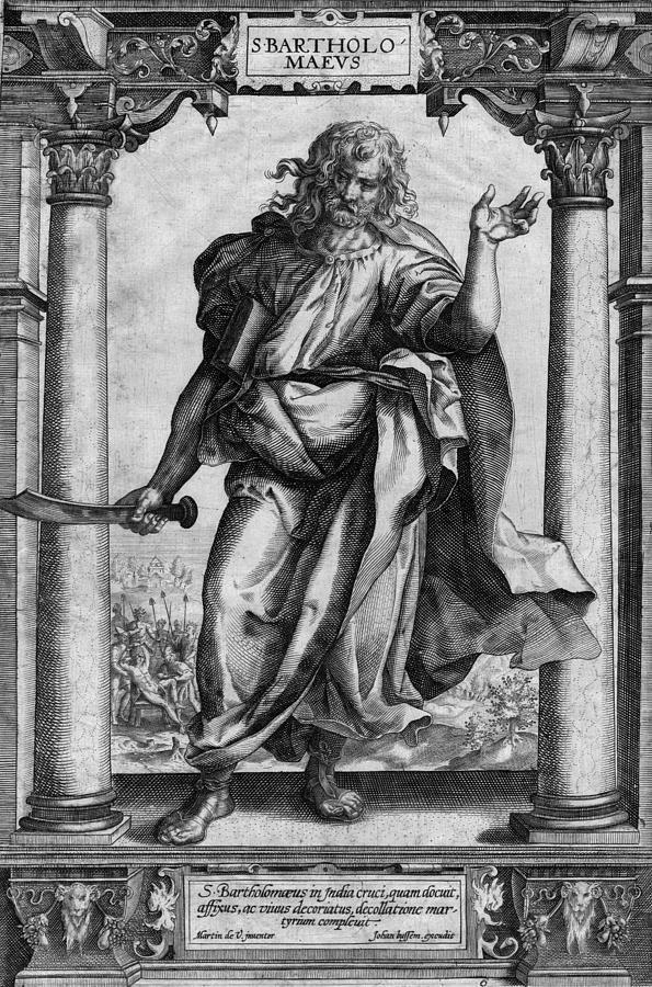 Saint Bartholomew Digital Art - Saint Bartholomew Dramatic Antique Print by Antique Images
