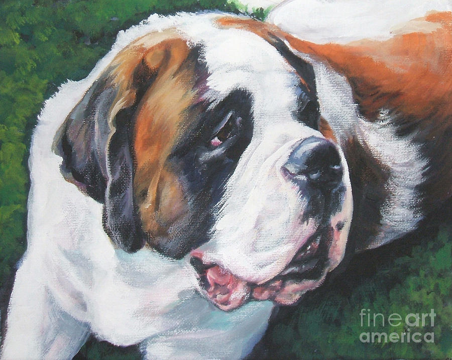 Saint Bernard Painting - Saint Bernard by Lee Ann Shepard