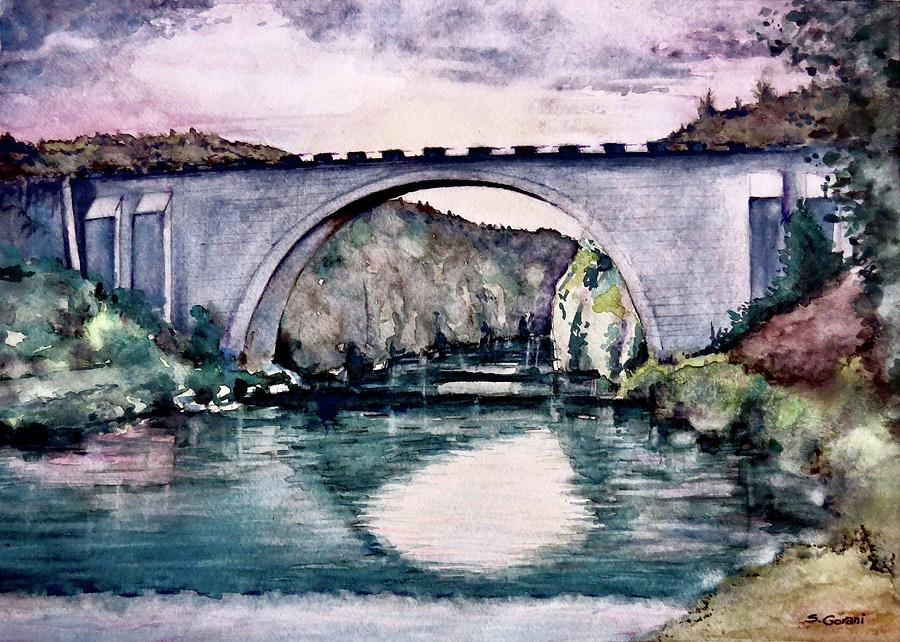 Painting Painting - Saint Bridge by Geni Gorani