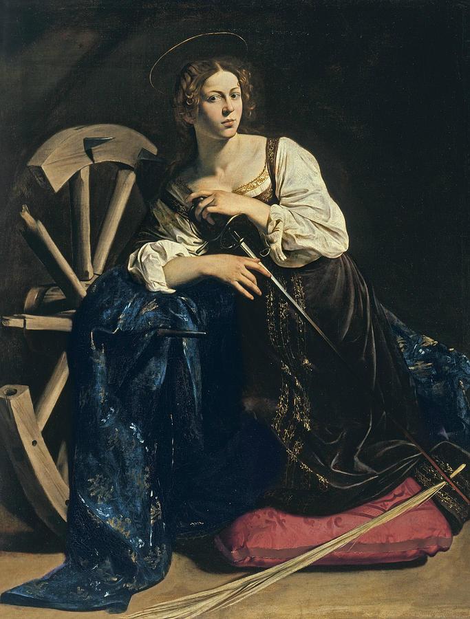 Caravaggio Painting - Saint Catherine Of Alexandria by Caravaggio