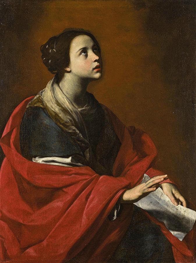 Saint Cecilia Painting - Saint Cecilia by Massimo Stanzione
