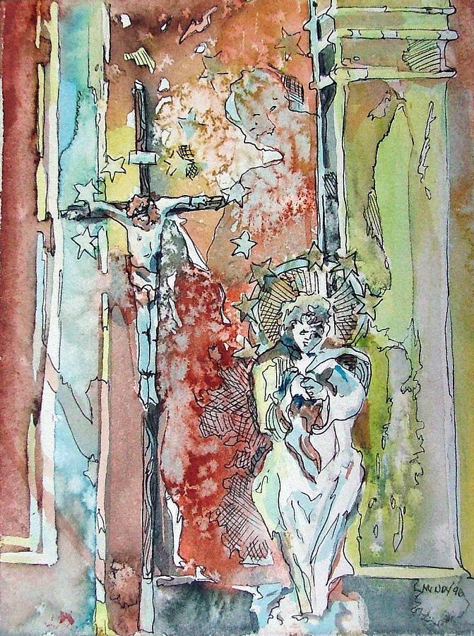 Jesus Painting - Saint Cecilia Ronda Spain by Mindy Newman