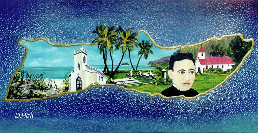 Saint Damien Painting - Saint Damien And Molokai #257 by Donald k Hall