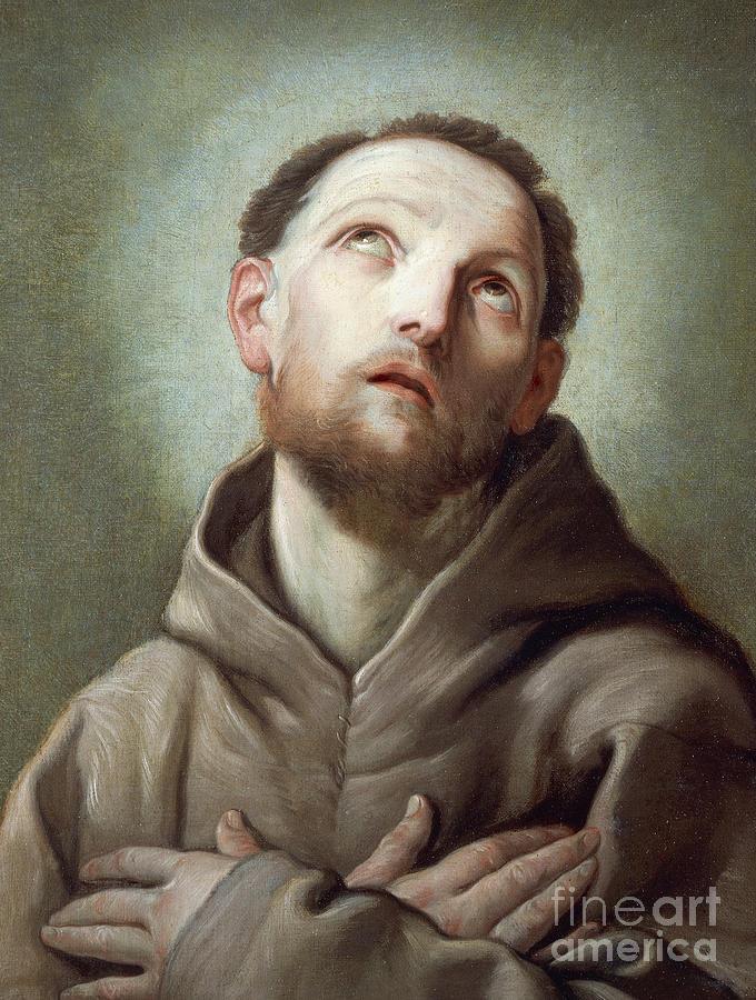 Guido Reni Painting - Saint Francis  by Guido Reni