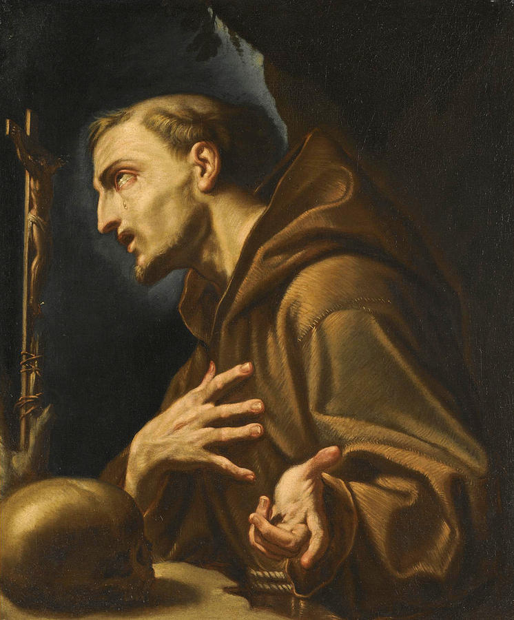 Saint Francis Of Assisi Painting By Francesco Trevisani