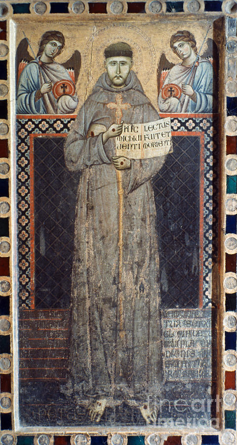 12th Century Painting - Saint Francis Of Assisi by Granger