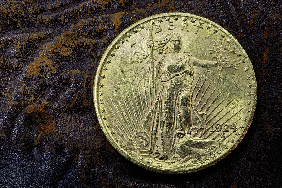 Double Eagle Photograph - Saint Gaudens Gold by JC Findley