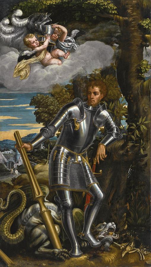 Antonio Badile Painting - Saint George And The Dragon by Antonio Badile