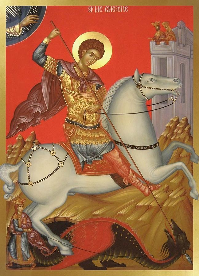 Christian Martyr Painting - Saint George by Daniel Neculae