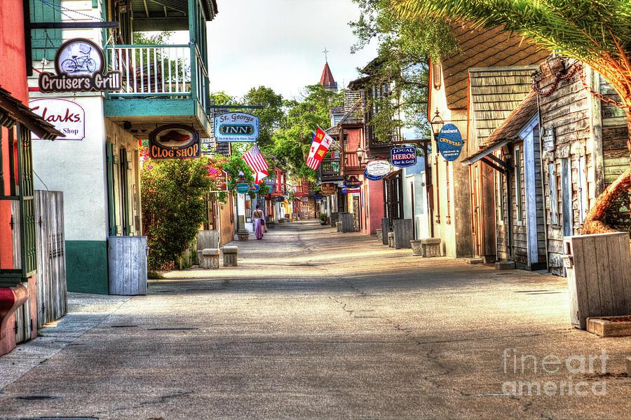 Saint Augustine Photograph - Saint George Street by C W Hooper