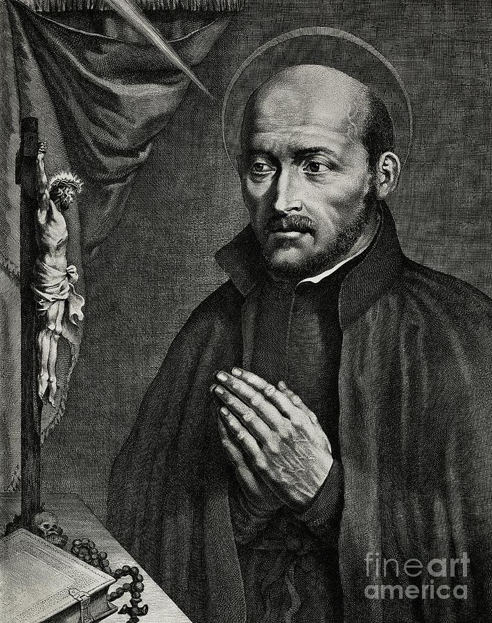 Saint Ignatius Of Loyola Drawing - Saint Ignatius of Loyola by German School