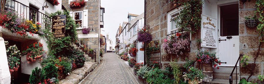 Color Image Photograph - Saint Ives Street Scene, Cornwall by Panoramic Images