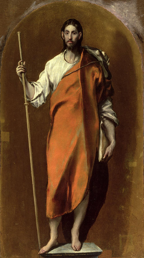 James Painting - Saint James The Greater by El Greco