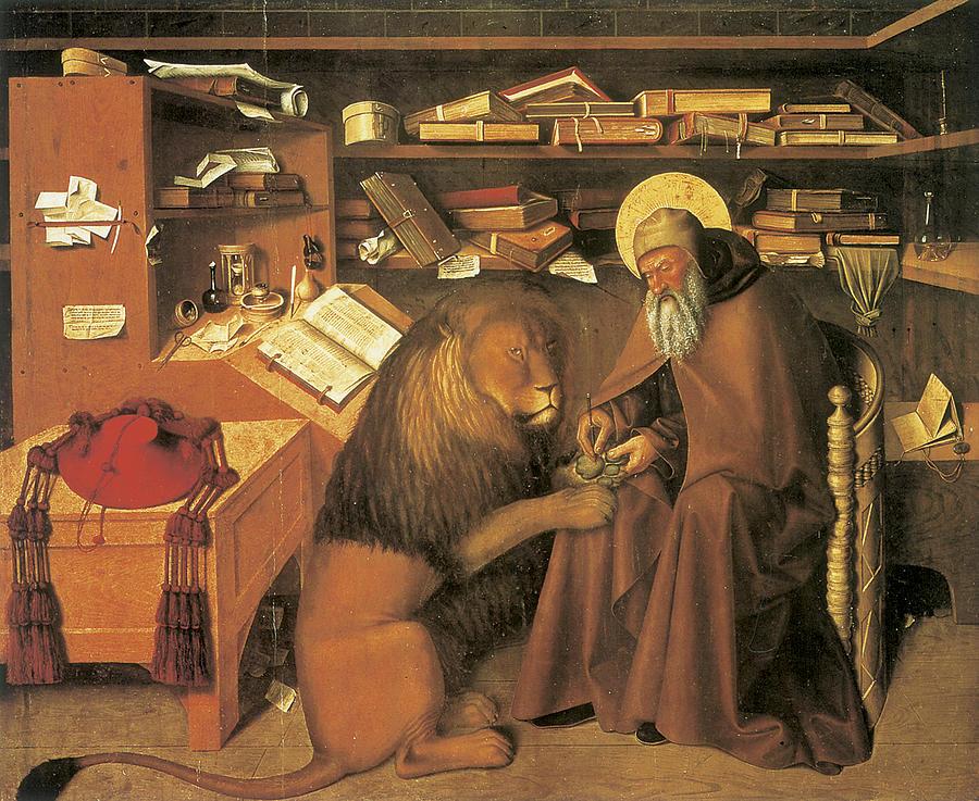 Saint Jerome Painting - Saint Jerome in his Study by Colantonio