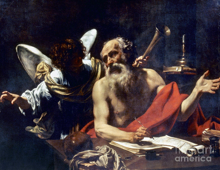 Angel Painting - Saint Jerome & The Angel by Granger