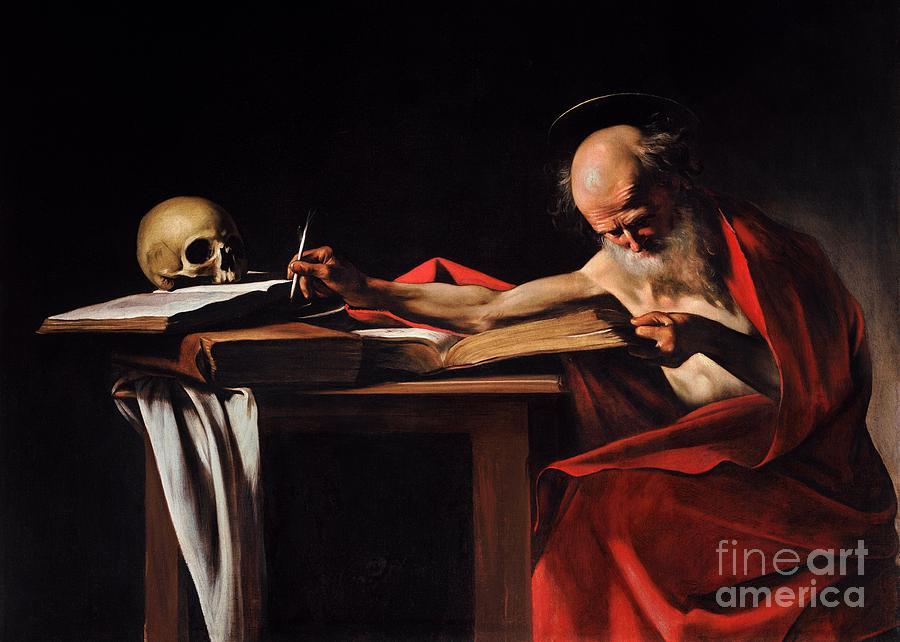 Saint Jerome Writing Painting