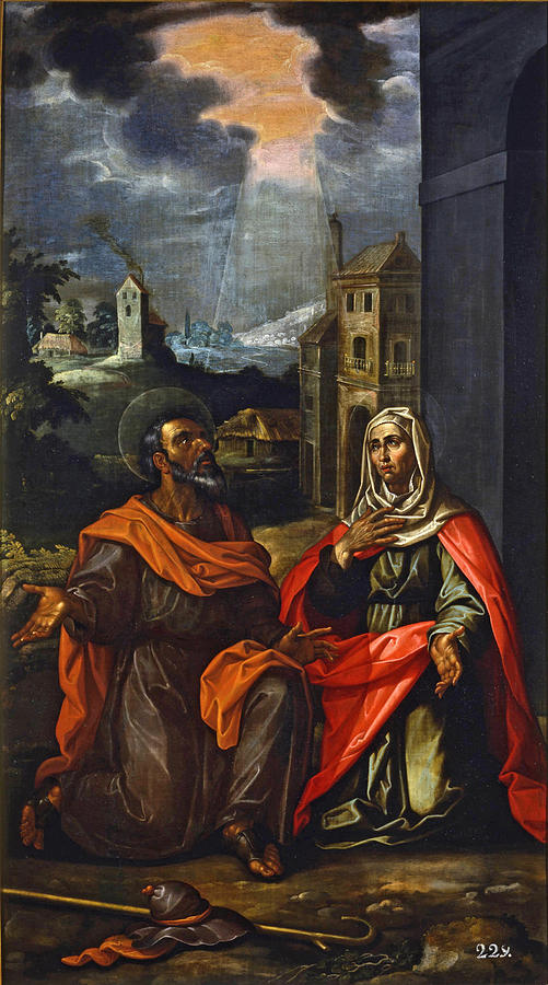 Saint Joachim And Saint Anne Painting By Francisco Pacheco