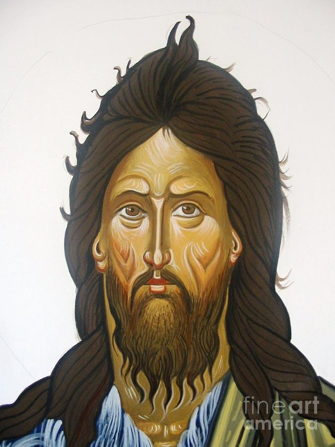 Icons.zbyzantine Art.byzantine Icons.saint John The Baptist.the Baptist Painting - Saint John by George Siaba