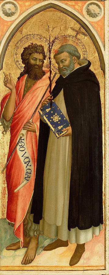 Fra Angelico Painting - Saint John The Baptist And Saint Dominic by Fra Angelico