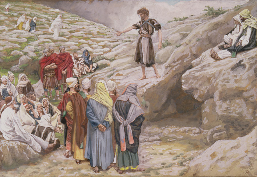 John Painting - Saint John The Baptist And The Pharisees by Tissot