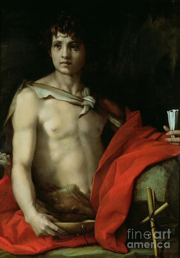 John Painting - Saint John The Baptist  by Andrea del Sarto