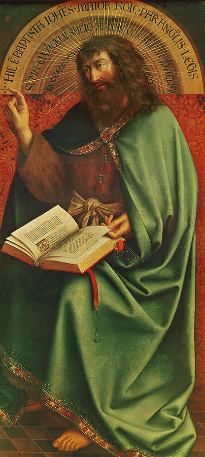 Saint Painting - Saint John The Baptist   by Jan Van Eyck