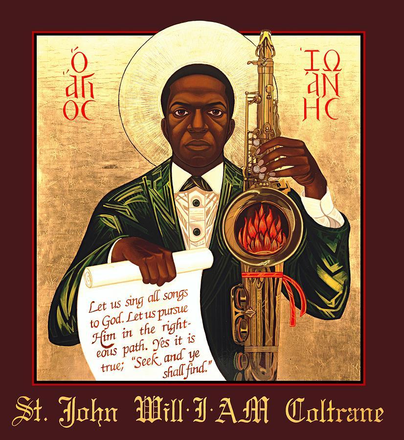 Ethnic Painting - Saint John The Divine Sound Baptist by Mark Dukes