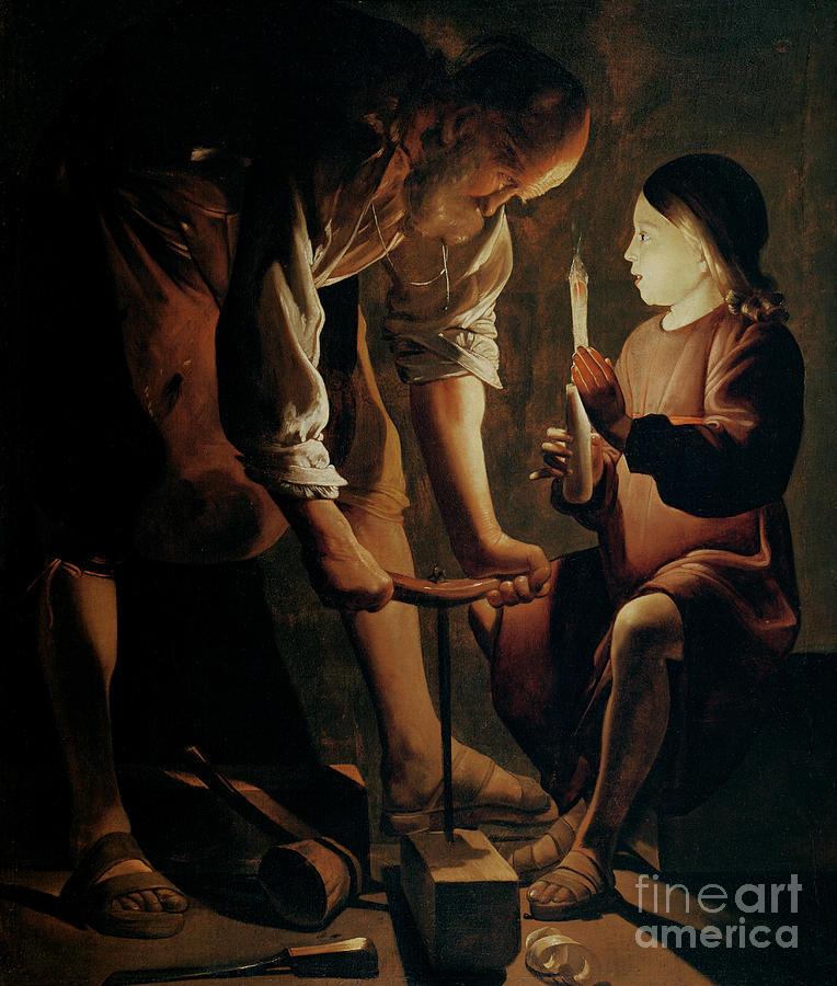 Georges De La Tour Painting - Saint Joseph The Carpenter  by Georges de la Tour