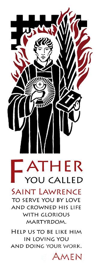 Catholic Digital Art - Saint Lawrence Prayer by Lawrence Klimecki