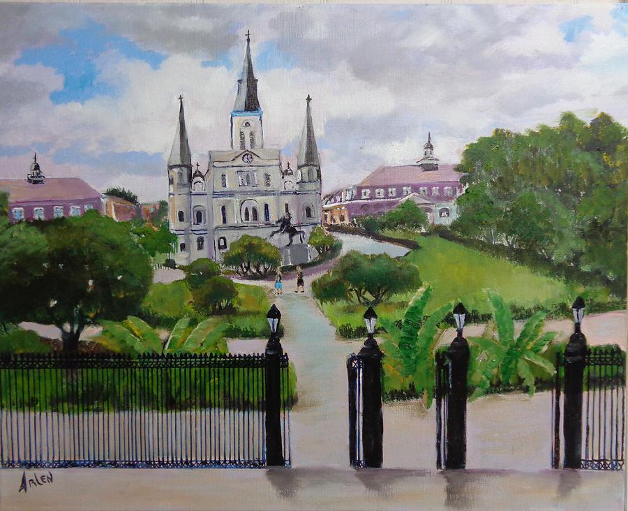 Saint Louis Cathedral by Arlen Avernian - Thorensen