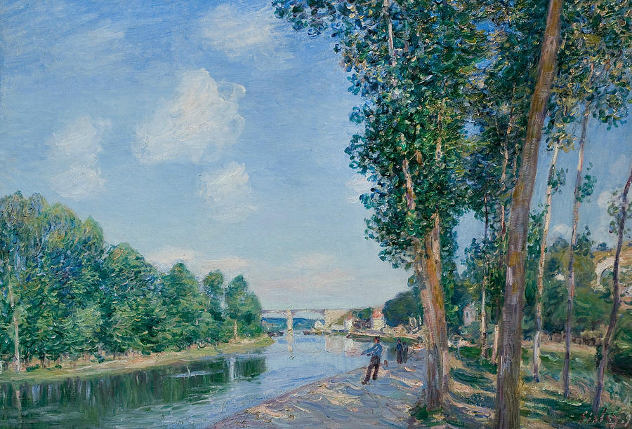 Alfred Sisley Painting - Saint Mammes June Sunshine  by Alfred Sisley